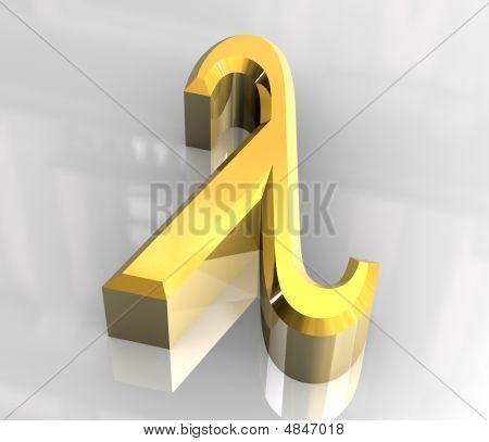 Lambda Symbol In Gold