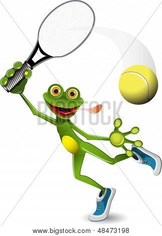 Frog Tennis Player