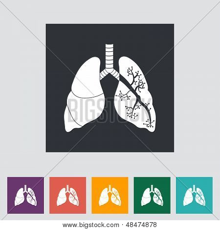 Lungs in Black and White.