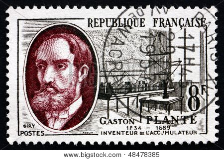 Postage Stamp France 1957 Gaston Plante, Physicist
