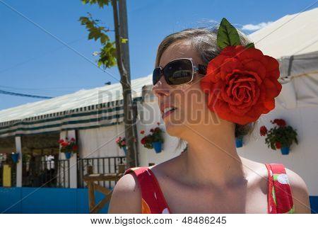 Woman In Cordoba Fair