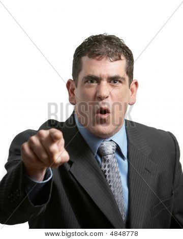 Businessman Yelling