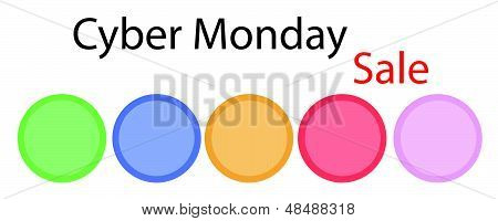 A Cyber Monday Circle Banner With Circle Label