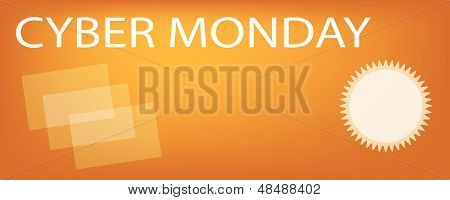 Paper Shopping Bags On Cyber Monday Sale Banner
