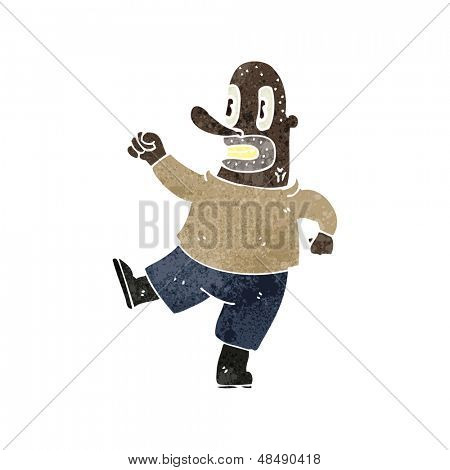 retro cartoon violent man