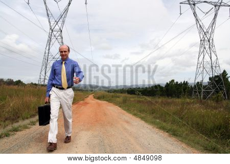 Powering Businessman