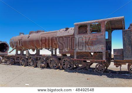 Train Boneyard, Salar De Uyuni, Bolivia, South America