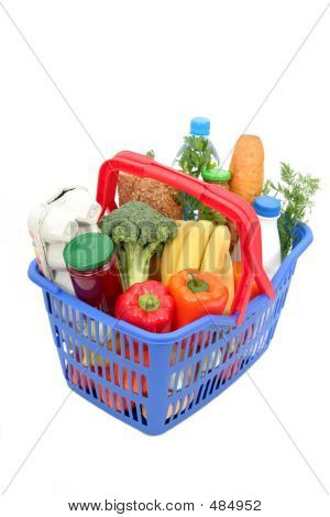 Groceries In Shopping Basket