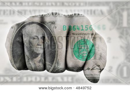 Fist With One Us Dollar