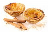 stock photo of pasteis  - Pasteis de nata typical pastry from Lisbon  - JPG