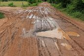 gravel road in upcountry too inferior in rains