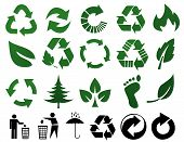Environmental Recycling Icons