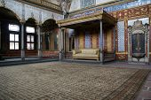 picture of eunuch  - Wall and hall in Harem Topkapi palace Istanbul - JPG