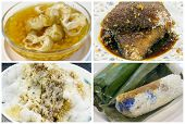 Southeast Asian Singapore Dessert And Snacks Collage