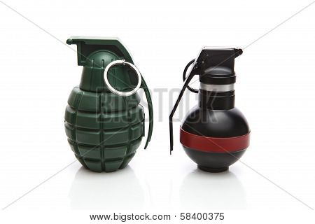 Kind Of Hand Grenade Bomber Isolated On White Background