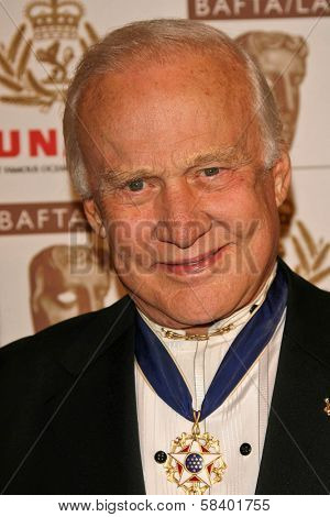 LOS ANGELES - NOVEMBER 2: Buzz Aldrin at the 2005 BAFTA/LA Cunard Britannia Awards at Hyatt Regency Century Plaza Hotel on November 2, 2006 in Century City, CA.