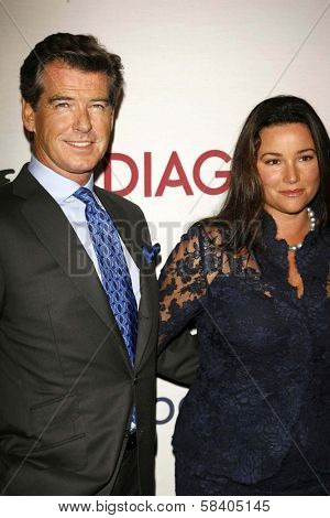LOS ANGELES - NOVEMBER 09: Pierce Brosnan and Keely Shaye Smith at the 2006 Partners Award Gala presented by Oceana at Esquire House November 09, 2006 in Los Angeles, CA.