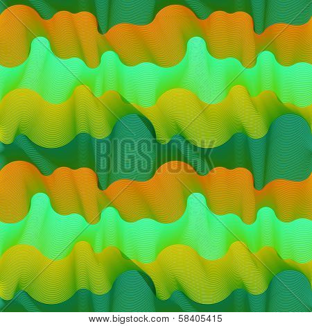 Vector seamless pattern of wavy