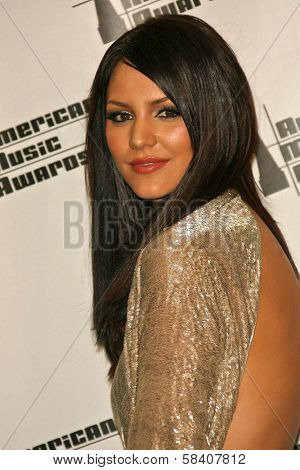 LOS ANGELES - NOVEMBER 21: Katharine McPhee in the press room at the 34th Annual American Music Awards at Shrine Auditorium on November 21, 2006 in Los Angeles, CA.