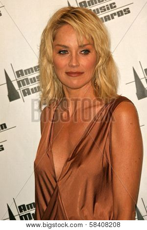 LOS ANGELES - NOVEMBER 21: Sharon Stone in the press room at the 34th Annual American Music Awards at Shrine Auditorium on November 21, 2006 in Los Angeles, CA.