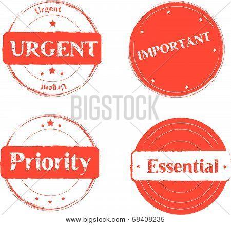 Stamp red Urgent