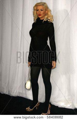 LOS ANGELES - NOVEMBER 02: Christina Aguilera at the Motorola 8th Anniversary Party at Hollywood Palladium on November 02, 2006 in Hollywood, CA.