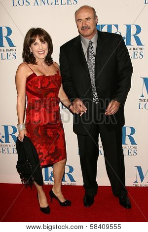BEVERLY HILLS - OCTOBER 30: Robin McGraw and Dr. Phil McGraw at The Museum of Television & Radio's Annual Los Angeles Gala at Regent Beverly Wilshire Hotel on October 30, 2006 in Beverly Hills, CA.