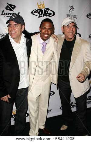 LOS ANGELES - OCTOBER 10: Jon Gurman with Nick Cannon and Marvin Gurman at the birthday party for Nick Cannon and the opening of his flagship store for PNB Nation, October 10, 2006 at PNB Nation Store