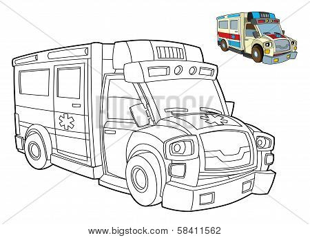 Coloring page with preview - cars