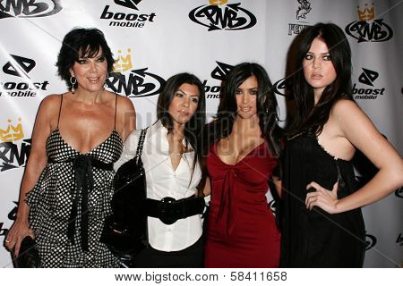 LOS ANGELES - OCTOBER 10: Kim Kardashian and family at the birthday party for Nick Cannon and the opening of his flagship store for PNB Nation on October 10, 2006 at PNB Nation Store, Los Angeles, CA.