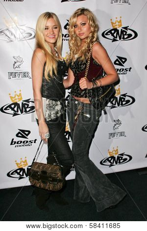 LOS ANGELES - OCTOBER 10: AJ Michalka and Alyson Michalka at the birthday party for Nick Cannon and the opening of his flagship store for PNB Nation on October 10, 2006 at PNB Nation Store.