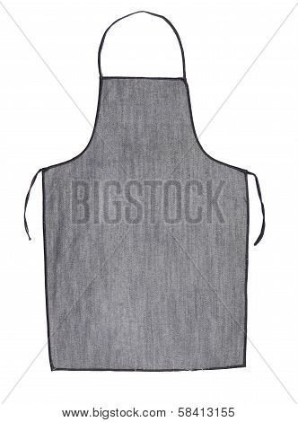 Gray jeans apron.