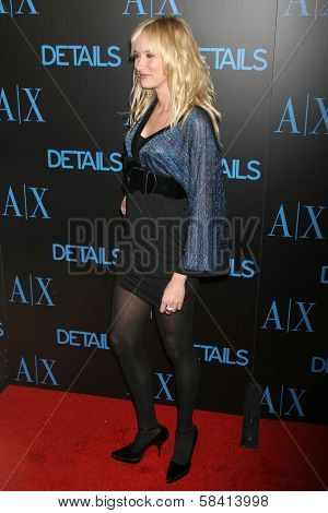 HOLLYWOOD - DECEMBER 07: Kimberly Stewart at Armani Exchange and Details Magazine's