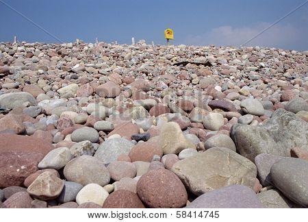 Pebble And Rocks Beach Of Mulrany In Ireland