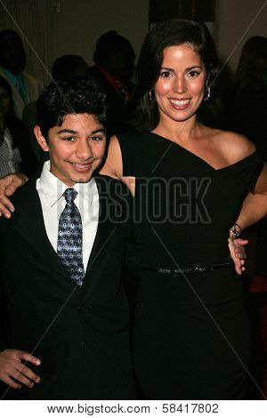 BEVERLY HILLS - NOVEMBER 29: Mark Indelicato and Ana Ortiz at the