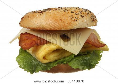 Bagel Egg And Bacon Sandwich
