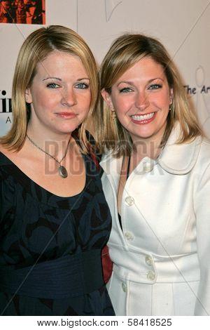 LOS ANGELES - DECEMBER 02: Melissa Joan Hart and Trisha Hart at the