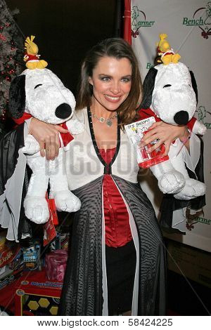 LOS ANGELES - DECEMBER 20: Alicia Arden at the Bench Warmer Trading Cards' Holiday Party and Toy Drive on December 20, 2006 at Area, Los Angeles, CA.