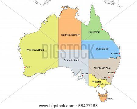 Australia political map
