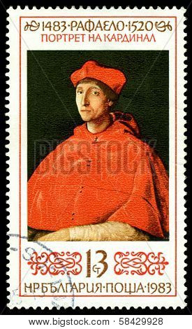 Vintage  Postage Stamp. Cardinal, By  Raphael.