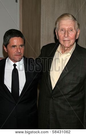 Brad Grey and Sumner Redstone at the Friends of the Los Angles Free Clinic Annual Dinner Gala. Beverly Hilton Hotel, Beverly Hills, California, November 20, 2006.