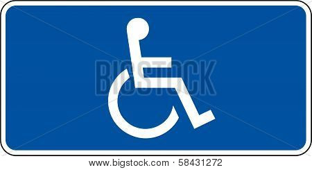 Blue handicapped sign