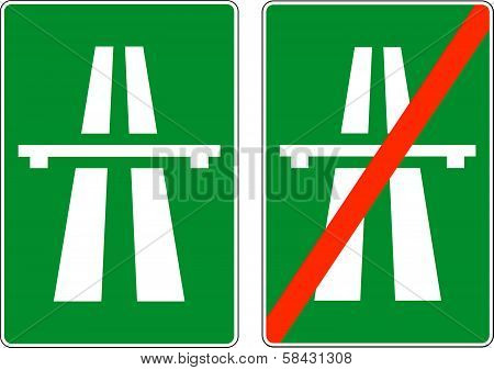 Highway signs, vector