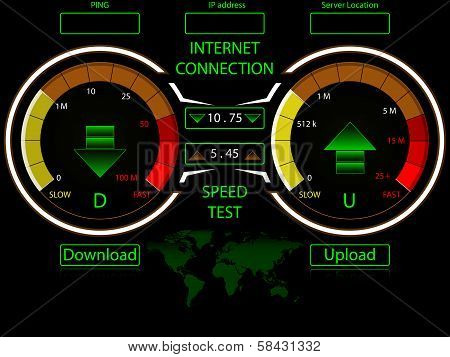 Internet connection speed test template