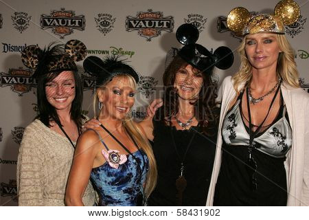 Kimberley Hefner and friends at the Disney Vault 28 Opening, Downtown Disney, Anaheim, California. November 12, 2006.