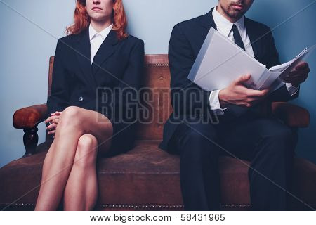 Businessman Reading Company Report