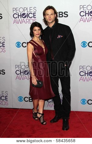 Jared Padalecki and Genevieve Padalecki at the 2013 People's Choice Awards Arrivals, Nokia Theater, Los Angeles, CA 01-09-13