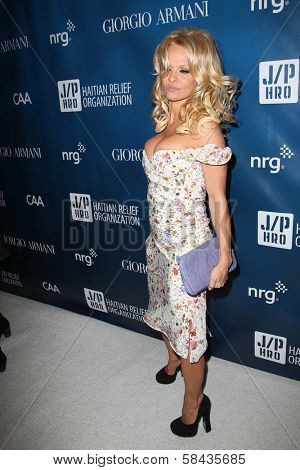 Pamela Anderson at the 2nd Annual Sean Penn & Friends
