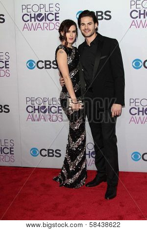 Rumer Willis and Jayson Blair at the 2013 People's Choice Awards Arrivals, Nokia Theater, Los Angeles, CA 01-09-13