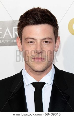 Cory Monteith at the 18th Annual Critics' Choice Movie Awards Arrivals, Barker Hangar, Santa Monica, CA 01-10-13
